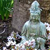 Statue with Blossom